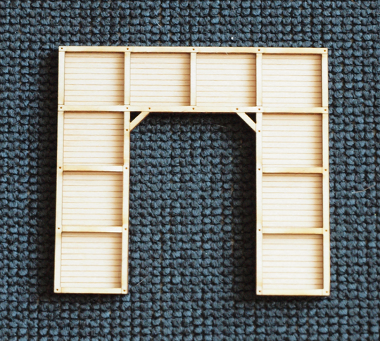 Great lakes models 015 002 387 007 n scale wood tunnel for N portal
